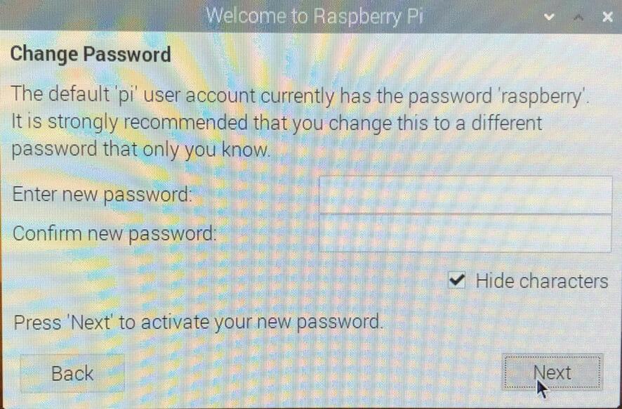Raspberry Pi 初回起動画面 設定