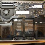 Mac Book Pro Early 2015 バッテリー交換後