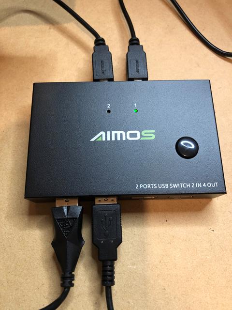 Aimos USB切替器 1に接続